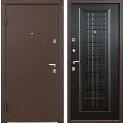 Дверь входная металлическая Спектра 1 860 мм левая цвет тёмный венге