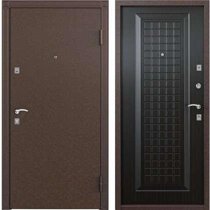 Дверь входная металлическая Спектра 1 950 мм правая цвет тёмный венге