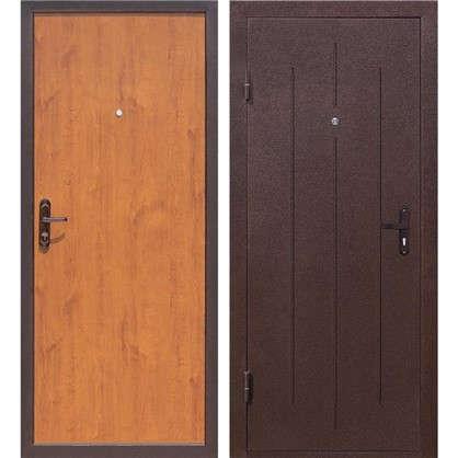Дверь входная металлическая Стройгост 5-1 880 мм левая цвет золотистый дуб