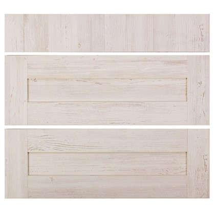 Двери для шкафа Delinia Фрейм светлый 80 см 3 ящика