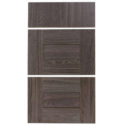 Купить Двери для шкафа Delinia Фрейм темный 40 см 3 ящика дешевле