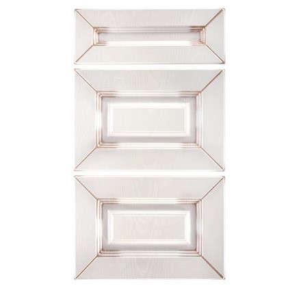 Двери для шкафа Ницца 3 ящика 40 см МДФ цвет коричневый
