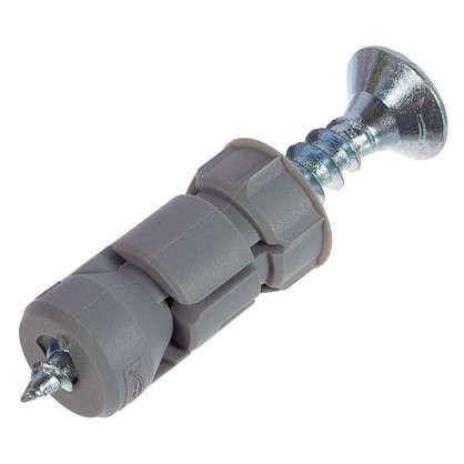 Дюбель для гипсокартона Fischer PD с шурупом 27х12 мм нейлон/оцинкованная сталь 4 шт.