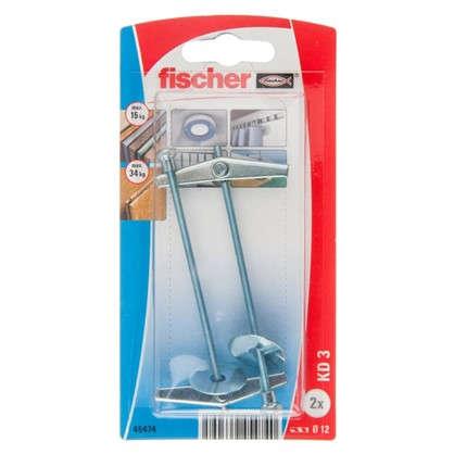 Дюбель для пустотелых материалов Fischer KD 3 со шпилькой 12х95 мм оцинкованная сталь 2 шт.