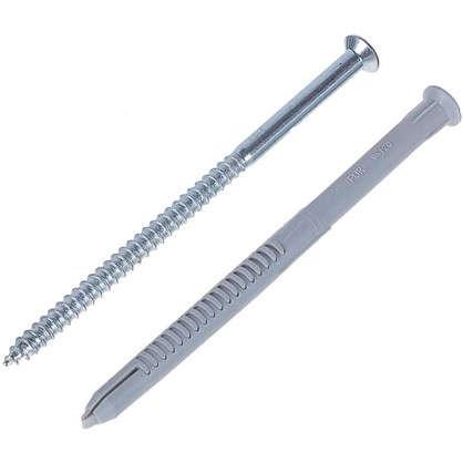 Купить Дюбель-шуруп Fischer T FUR фасадный универсальный 8x120 мм нейлон/оцинкованная сталь дешевле