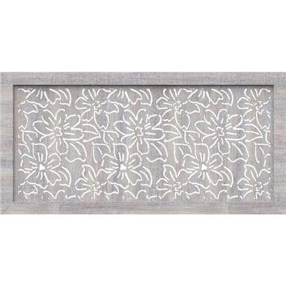 Купить Экран для радиатора Цветы 120х60 см цвет дуб серый дешевле