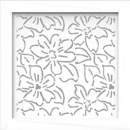 Купить Экран для радиатора Цветы 60х60 см цвет белый дешевле