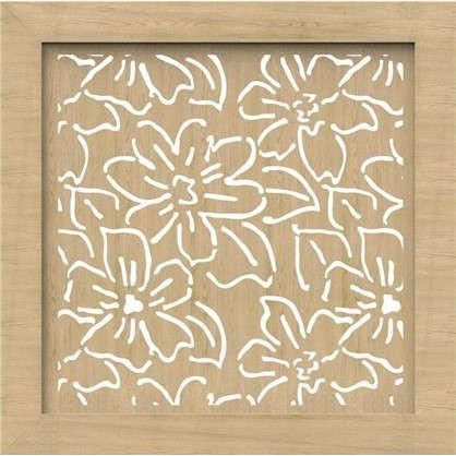 Купить Экран для радиатора Цветы 60х60 см цвет сонома дешевле