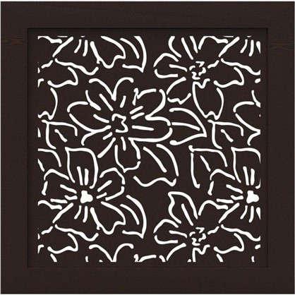 Купить Экран для радиатора Цветы 60х60 см цвет венге дешевле