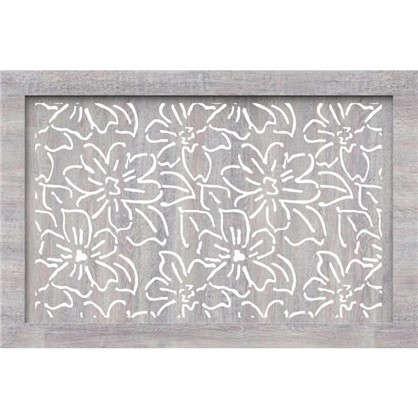 Экран для радиатора Цветы 90х60 см цвет дуб серый цена