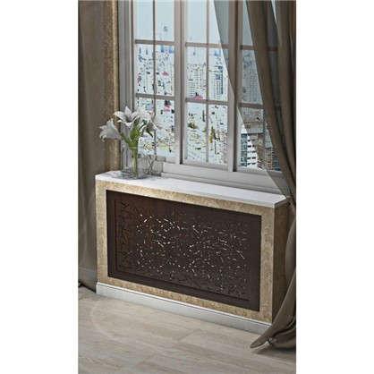 Купить Экран для радиатора Цветы 90х60 см цвет венге дешевле