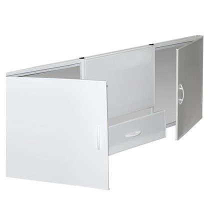 Купить Экран под ванну с выдвижным ящиком 170 см цвет белый дешевле
