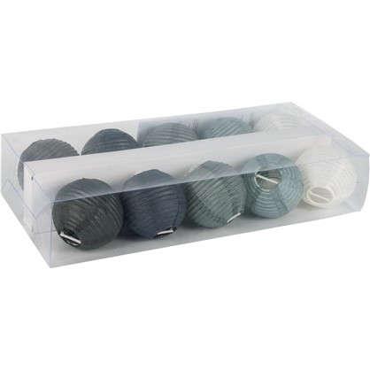 Электрогирлянда 120 см 10 ламп цвет серый