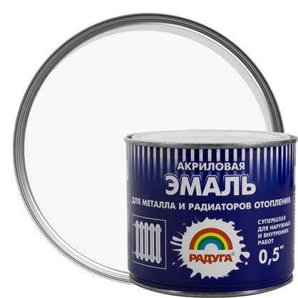 Эмаль акриловая для радиаторов белая Р-178 0.5 кг