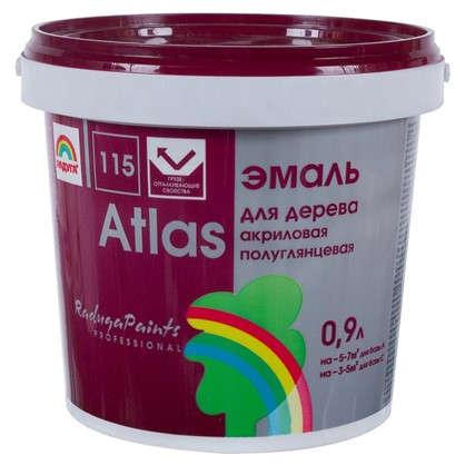 Купить Эмаль Атлас 115 акриловая полуглянцевая цвет белый 0.9 л дешевле