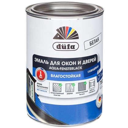 Купить Эмаль для окон Dufa Aqua-Fensterlack цвет белый 0.75 л дешевле