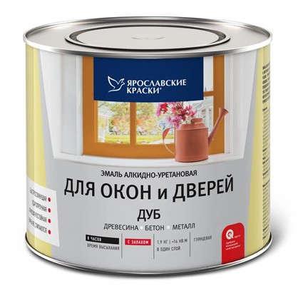 Купить Эмаль для окон и дверей цвет дуб 1.9 кг дешевле