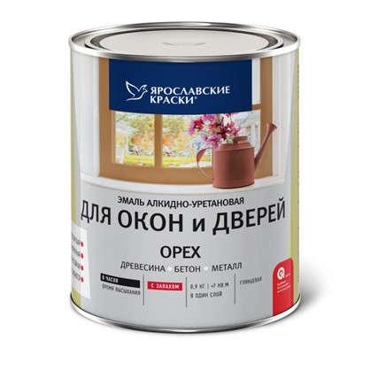 Купить Эмаль для окон и дверей цвет орех 0.9 кг дешевле