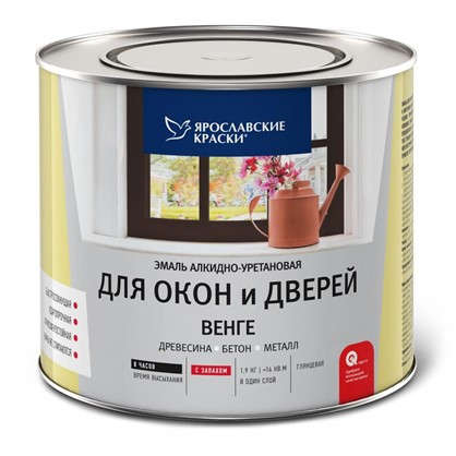 Эмаль для окон и дверей цвет венге 1.9 кг