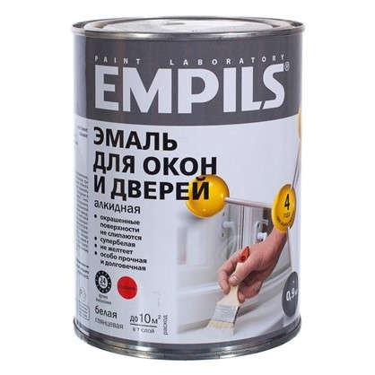Купить Эмаль для окон и дверей Empils PL цвет белый 0.9 кг дешевле