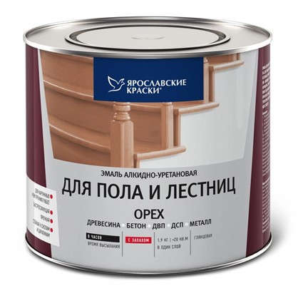 Купить Эмаль для пола и лестниц 1.9 кг цвет орех дешевле