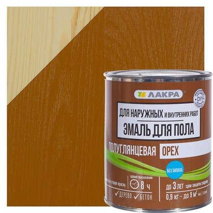 Купить Эмаль для пола Лакра DIY цвет орех 0.9 кг дешевле