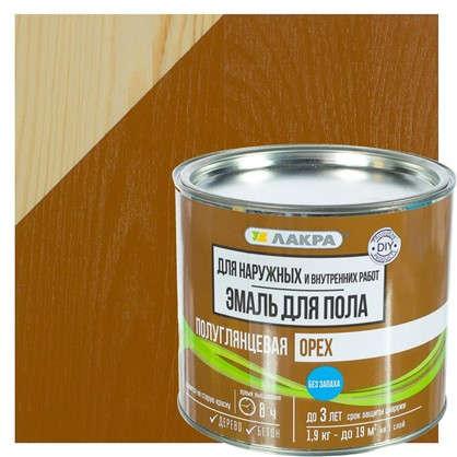 Купить Эмаль для пола Лакра DIY цвет орех 1.9 кг дешевле