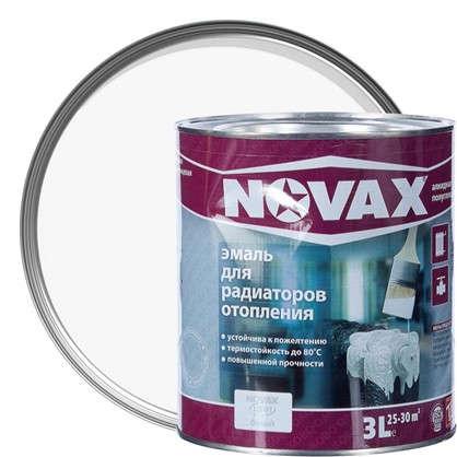 Купить Эмаль для радиаторов Novax цвет белый 3 л дешевле