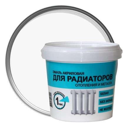 Эмаль для радиаторов отопления и металла Р-1780 цвет белый 1 кг
