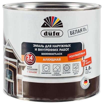 Эмаль Dufa полуматовая цвет белый 1.8 л база 1