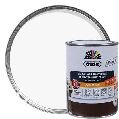 Купить Эмаль Dufa Seidenmattlack полуматовая цвет белый 0.75 л дешевле