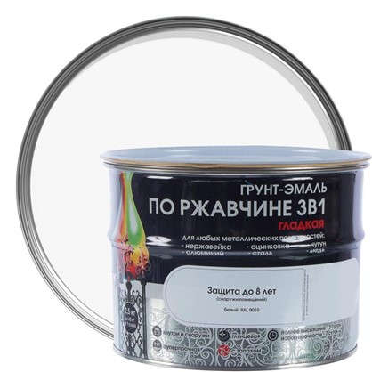 Эмаль гладкая Dali 3в1 цвет белый 2.5 кг