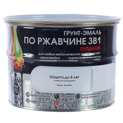 Купить Эмаль гладкая Dali 3в1 цвет белый 2.5 кг дешевле