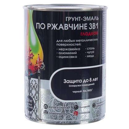 Эмаль гладкая Dali 3в1 цвет черный 0.8 кг