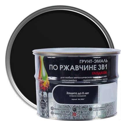 Купить Эмаль гладкая Dali 3в1 цвет черный 2.5 кг дешевле