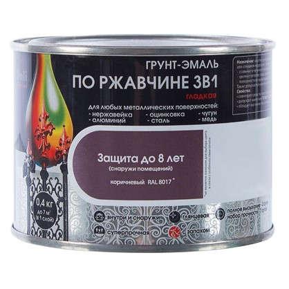 Купить Эмаль гладкая Dali 3в1 цвет коричневый 0.4 кг дешевле