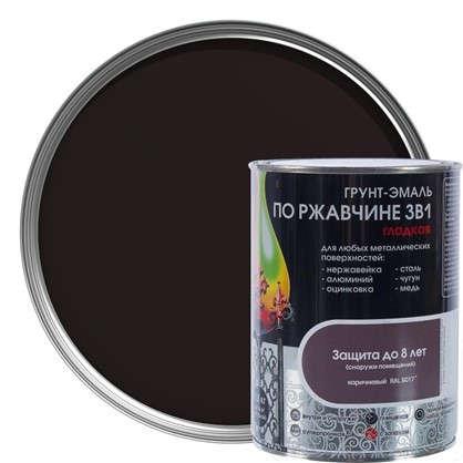 Купить Эмаль гладкая Dali 3в1 цвет коричневый 0.8 кг дешевле
