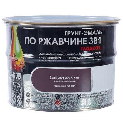 Купить Эмаль гладкая Dali 3в1 цвет коричневый 2.5 кг дешевле
