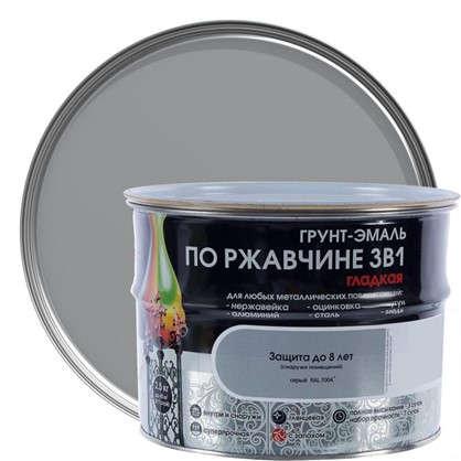 Эмаль гладкая Dali 3в1 цвет серый 2.5 кг