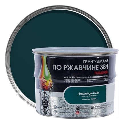 Купить Эмаль гладкая Dali 3в1 цвет зеленый мох 2.5 кг дешевле