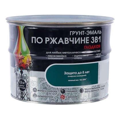 Эмаль гладкая Dali 3в1 цвет зеленый мох 2.5 кг
