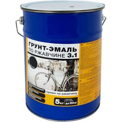 Купить Эмаль-грунт по ржавчине 3в1 цвет черный 5 кг дешевле