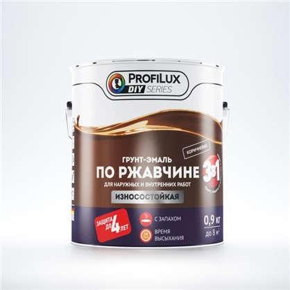 Эмаль-грунт по ржавчине 3в1 цвет коричневый 0.9 кг