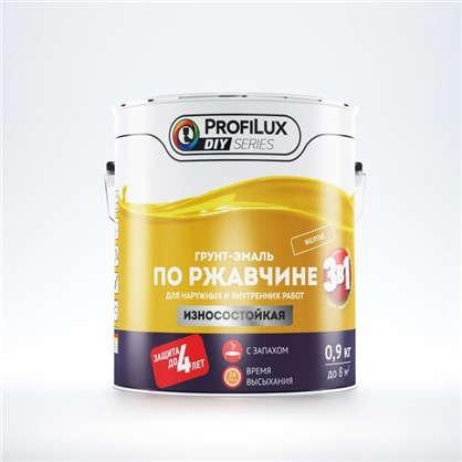 Эмаль-грунт по ржавчине 3в1 цвет желтый 0.9 кг