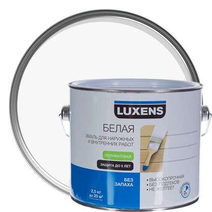 Эмаль Luxens полуматовая цвет белый 2.5 кг