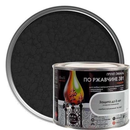 Эмаль молотковая Dali 3в1 цвет черный 0.4 кг