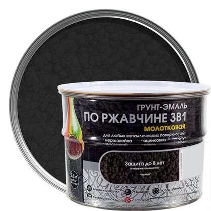 Купить Эмаль молотковая Dali 3в1 цвет черный 2.5 кг дешевле