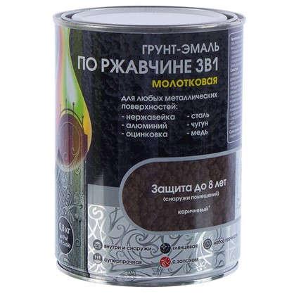 Эмаль молотковая Dali 3в1 цвет коричневый 0.8 кг