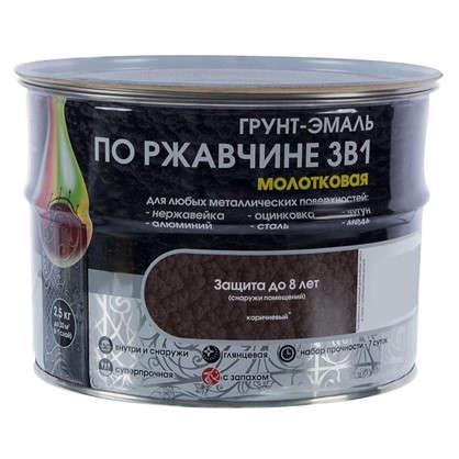Эмаль молотковая Dali 3в1 цвет коричневый 2.5 кг