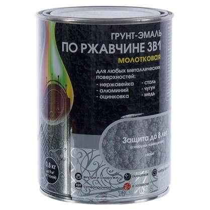 Купить Эмаль молотковая Dali 3в1 цвет серый 0.8 кг дешевле